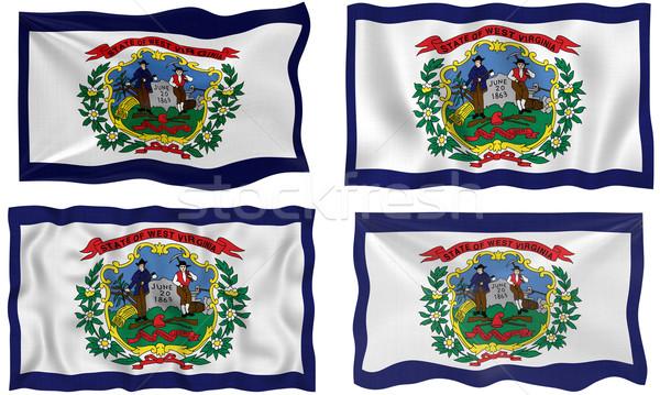 Zászló Nyugat-Virginia nagyszerű kép Stock fotó © clearviewstock