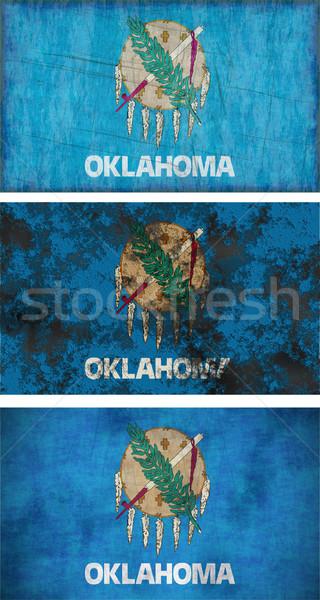 Vlag Oklahoma groot afbeelding achtergrond vuile Stockfoto © clearviewstock