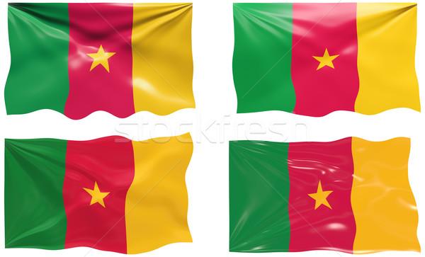 Vlag Kameroen groot afbeelding Stockfoto © clearviewstock