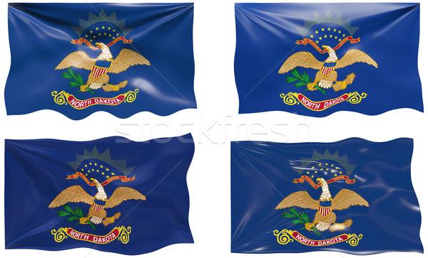 Bayrak Kuzey Dakota muhteşem görüntü Stok fotoğraf © clearviewstock