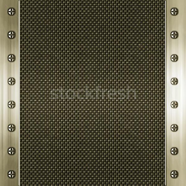 Carbono fibra oro imagen dorado metal Foto stock © clearviewstock