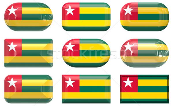 Dziewięć szkła przyciski banderą Togo Zdjęcia stock © clearviewstock