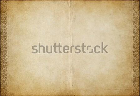 Pergamino papel imagen flor libro Foto stock © clearviewstock
