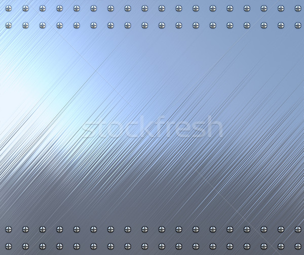 polished metal with screws Stock photo © clearviewstock
