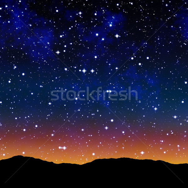 starry sky at night Stock photo © clearviewstock