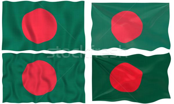 Zászló Banglades nagyszerű kép fehér négy Stock fotó © clearviewstock