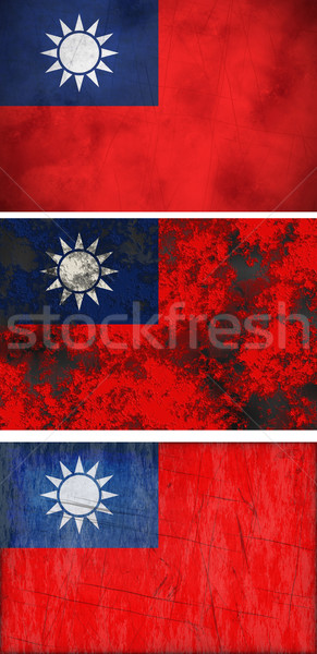 Bandera república China Taiwán imagen Foto stock © clearviewstock