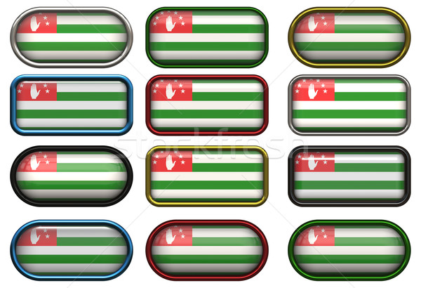twelve buttons of the Flag of Abkhazia Stock photo © clearviewstock