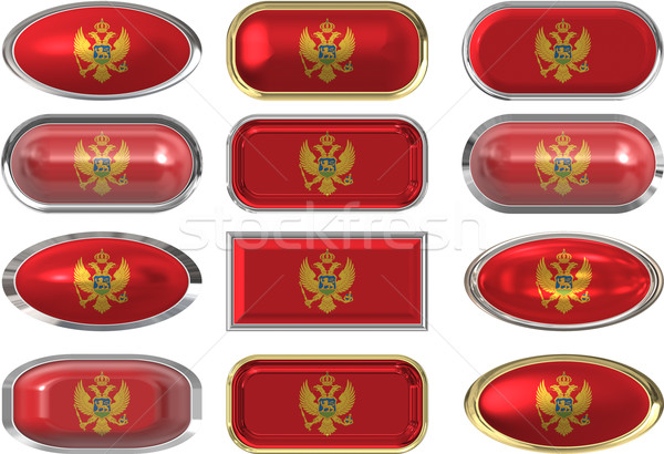 twelve buttons of the Flag of Montenegro Stock photo © clearviewstock