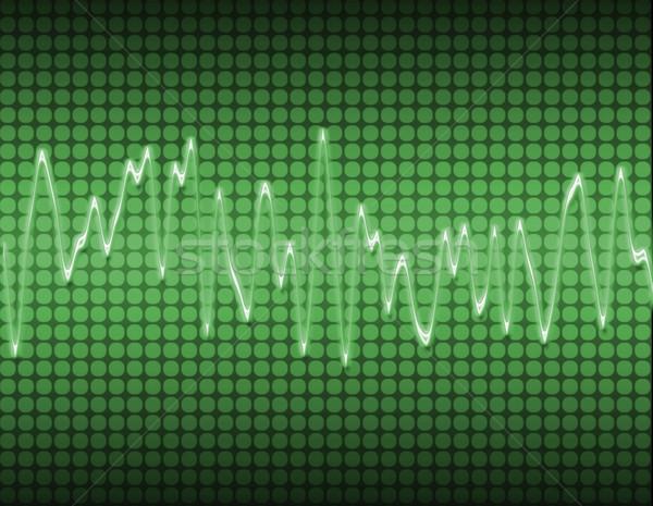 Stock photo: electronic sine sound wave