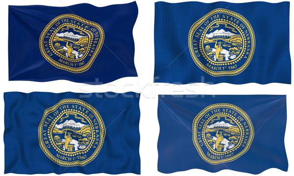 Zászló Nebraska nagyszerű kép Stock fotó © clearviewstock