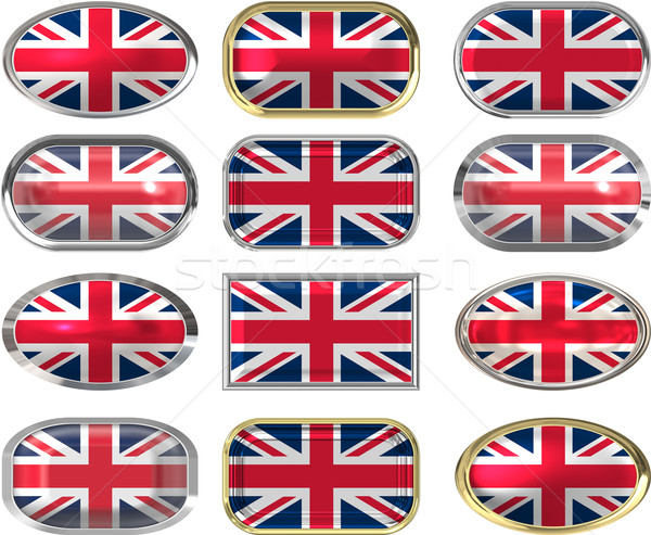 12 buttons of the Flag of the United Kingdom Stock photo © clearviewstock