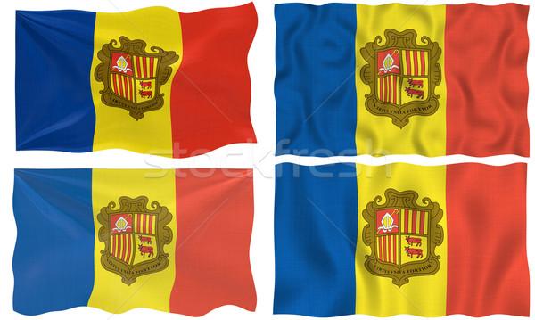 Vlag Andorra groot afbeelding Stockfoto © clearviewstock