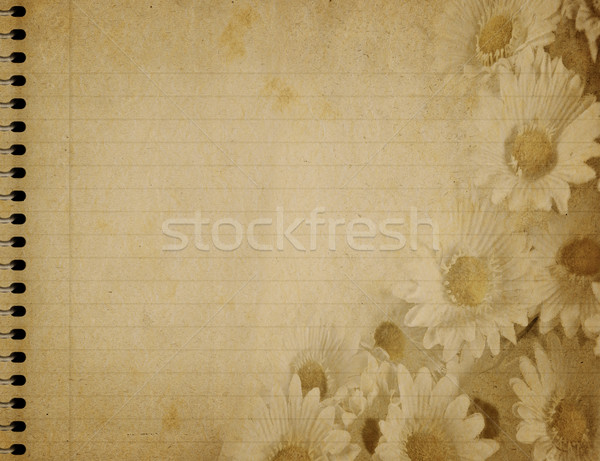 spiral notebook floral design Stock photo © clearviewstock