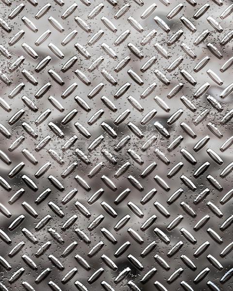 rough black diamond plate Stock photo © clearviewstock