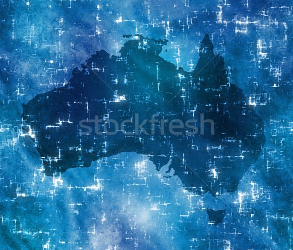 Alto tecnologia Austrália mapa estático eletricidade Foto stock © clearviewstock