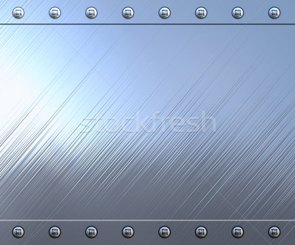 highly polished and reflective stainless steel background Stock photo © clearviewstock