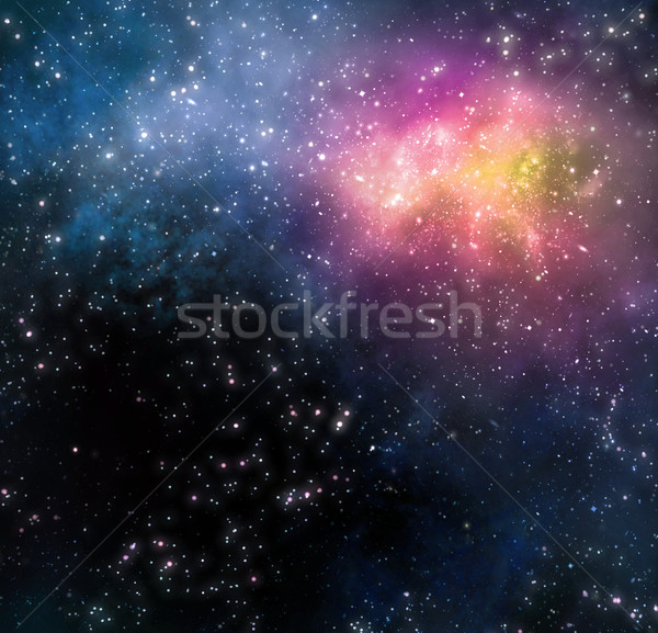 Nevelvlek Galaxy ruimte sterren diep Stockfoto © clearviewstock