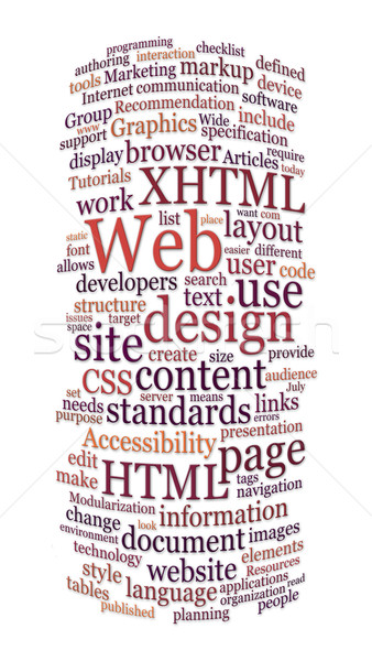 website web design word cloud Stock photo © clearviewstock