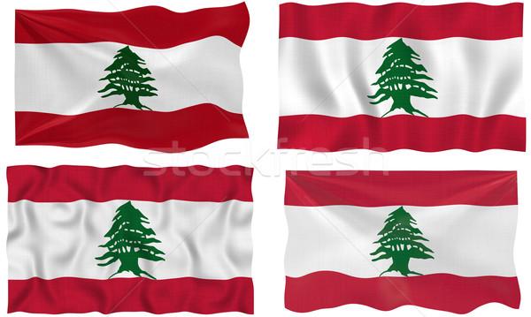 Zászló Libanon nagyszerű kép Stock fotó © clearviewstock