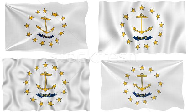 Bandeira Rhode Island imagem Foto stock © clearviewstock