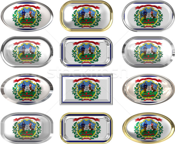 12 buttons of the Flag of West Virginia Stock photo © clearviewstock