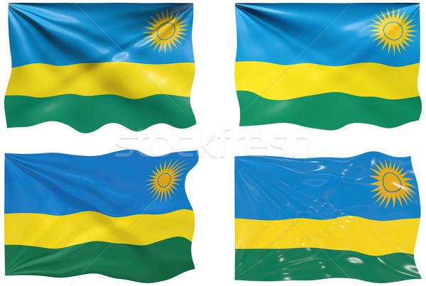Banderą Rwanda obraz Zdjęcia stock © clearviewstock