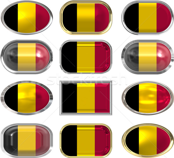 twelve buttons of the Flag of Belgium Stock photo © clearviewstock