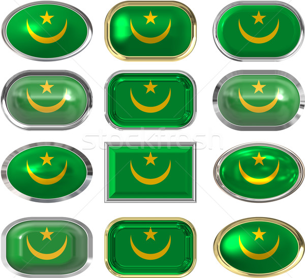twelve buttons of the Flag of Mauritana Stock photo © clearviewstock