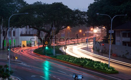 car road lights at sunset Stock photo © clearviewstock