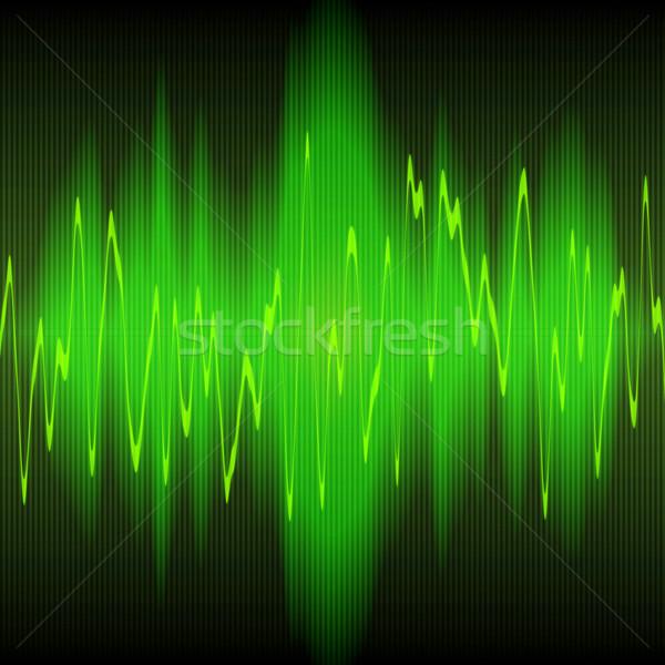 Hanghullám zöld hang hullámok terv technológia Stock fotó © clearviewstock