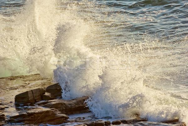 crashing waves on rocks Stock photo © clearviewstock