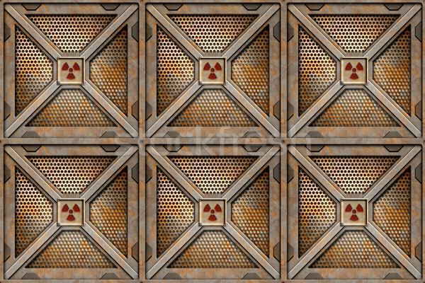 Radioactifs six stockage texture design fond Photo stock © clearviewstock