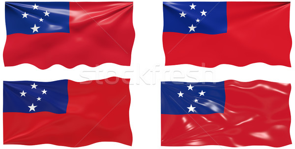 Bandeira Samoa imagem Foto stock © clearviewstock