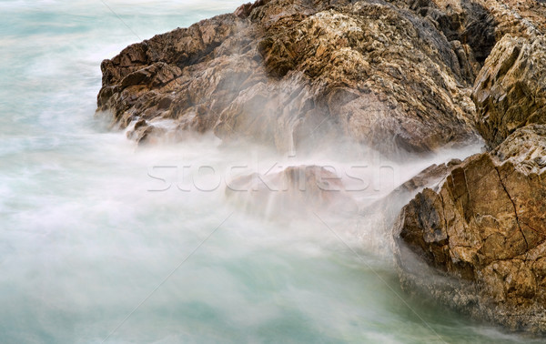 soft water on rocks Stock photo © clearviewstock