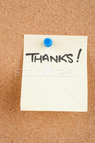Merkt groot afbeelding nota kantoor boord Stockfoto © clearviewstock