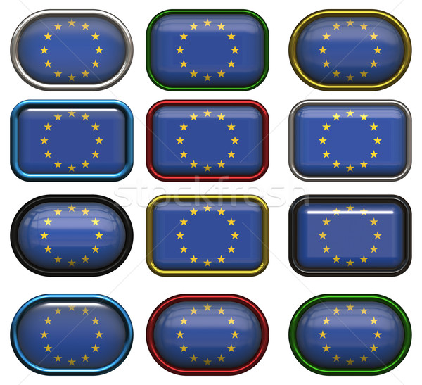 twelve buttons of the flag of the european union Stock photo © clearviewstock