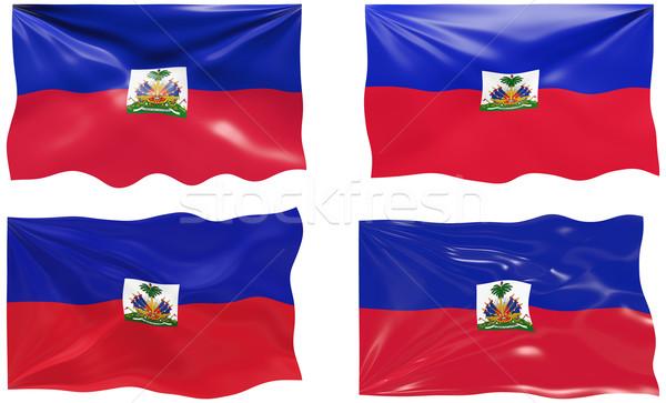 Bandeira Haiti imagem Foto stock © clearviewstock