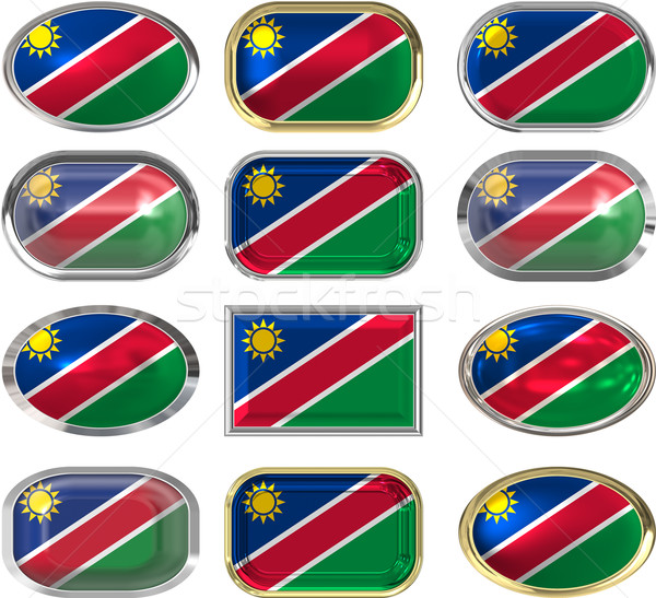 twelve buttons of the flag of nambia Stock photo © clearviewstock