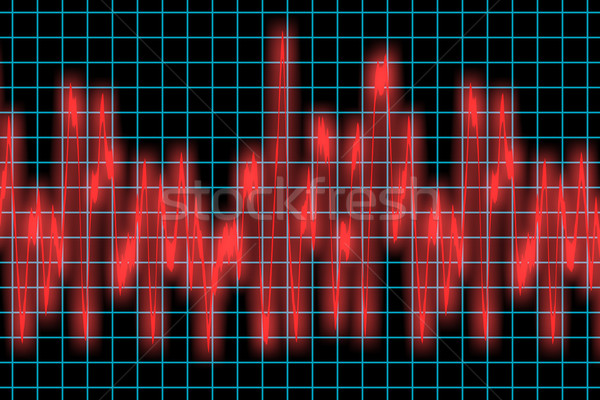 Corazón supervisar pulsante onda de sonido música radio Foto stock © clearviewstock