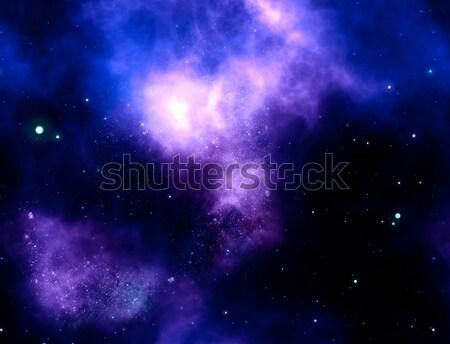 Nebulosa gas nube profundo espacio exterior brillante Foto stock © clearviewstock