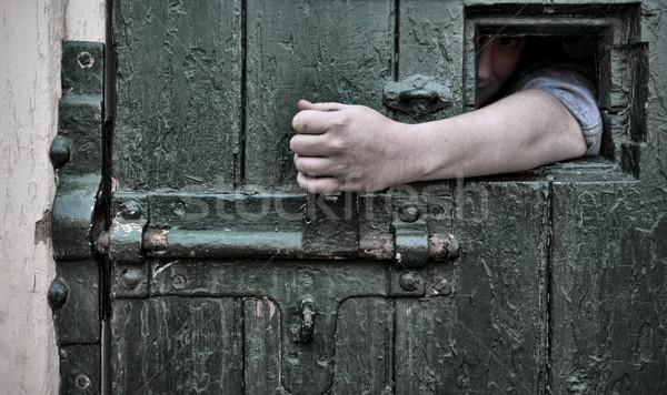 Kaçış esaret kol hapis pencere kapıyı açmak Stok fotoğraf © clearviewstock