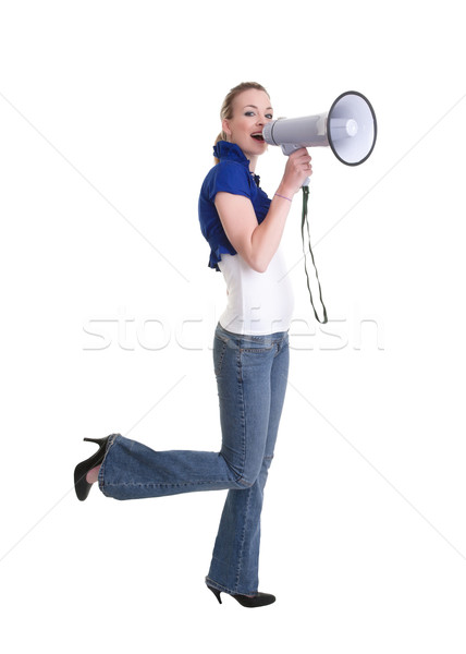 young woman with bullhorn Stock photo © clearviewstock