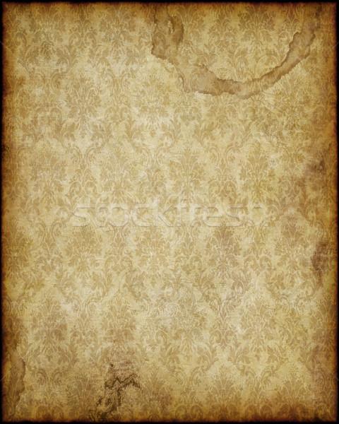 Stock fotó: Régi · papír · öreg · elnyűtt · pergamen · papír · textúra · kép