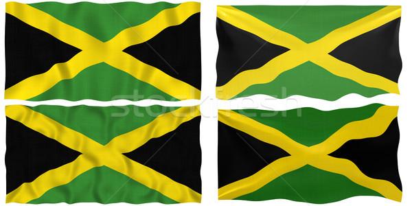 Vlag Jamaica groot afbeelding Stockfoto © clearviewstock