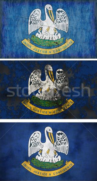 Vlag Louisiana groot afbeelding achtergrond vuile Stockfoto © clearviewstock