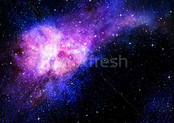 starry deep outer space nebula and galaxy Stock photo © clearviewstock