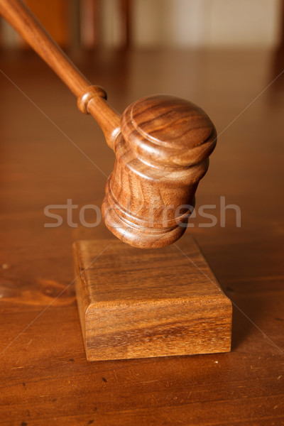 decision made judges gavel hitting Stock photo © clearviewstock