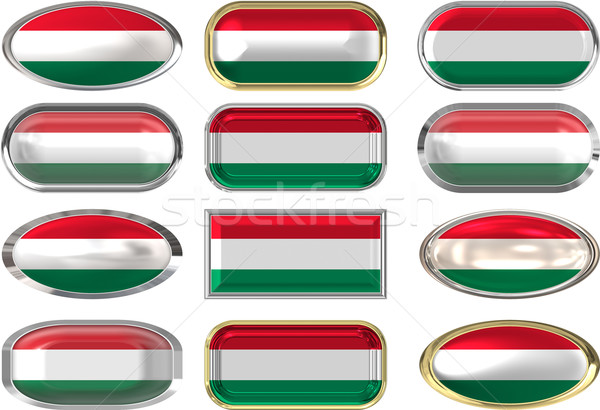 twelve buttons of the Flag of Hungary Stock photo © clearviewstock