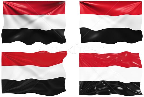 Zászló Jemen nagyszerű kép Stock fotó © clearviewstock